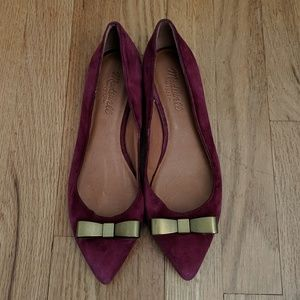 Madewell burgundy suede flats size 7